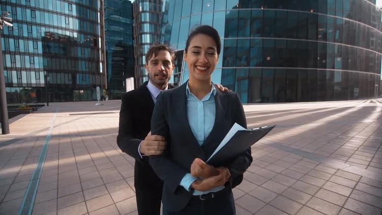 Businessman Recommends Partner: Stock Video