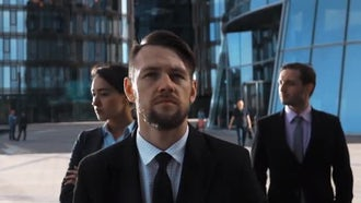 Epic Shot Of Business Team: Stock Video