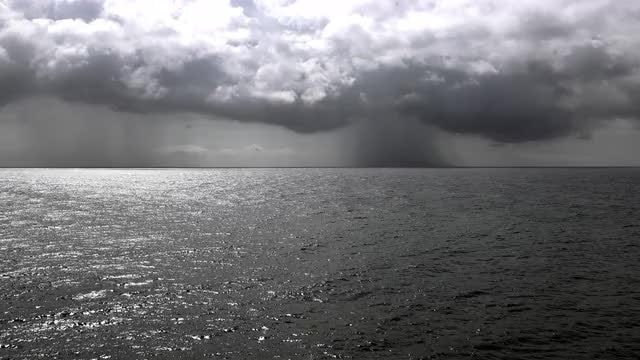 Storm Clouds Over The Sea: Stock Video