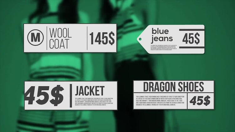 Minimal Prices: After Effects Templates
