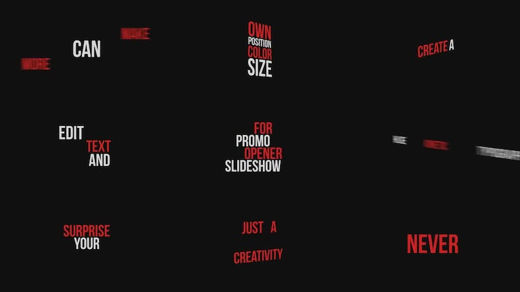 Dynamic Typography Pack: After Effects Templates