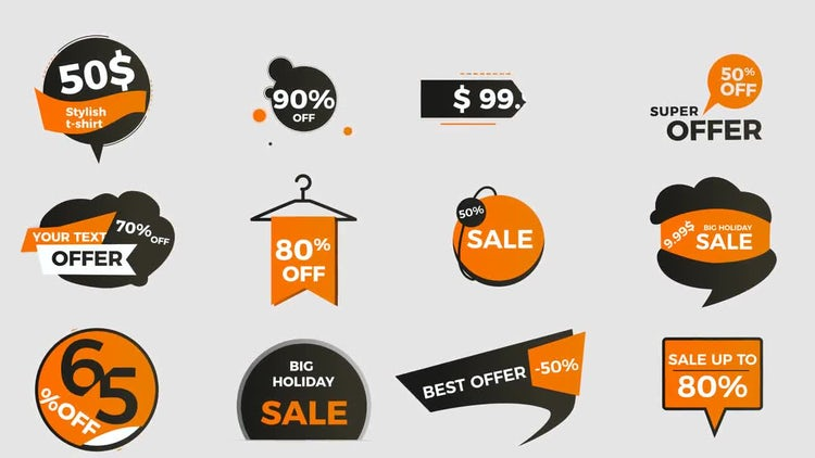 Prices Titles And Tags: After Effects Templates