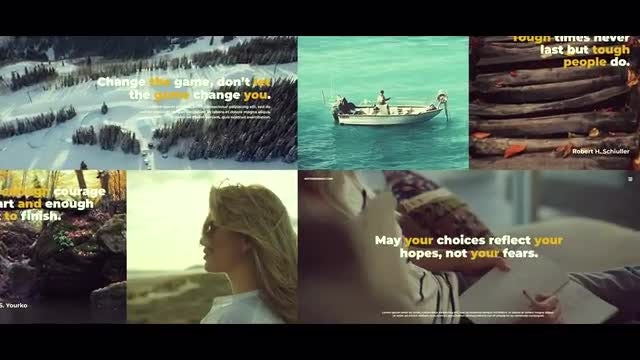 Clean Multiframe Slideshow: Premiere Pro Templates