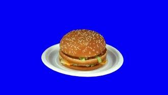 Rotating Seamless Looping Fast Food Burger: Stock Video