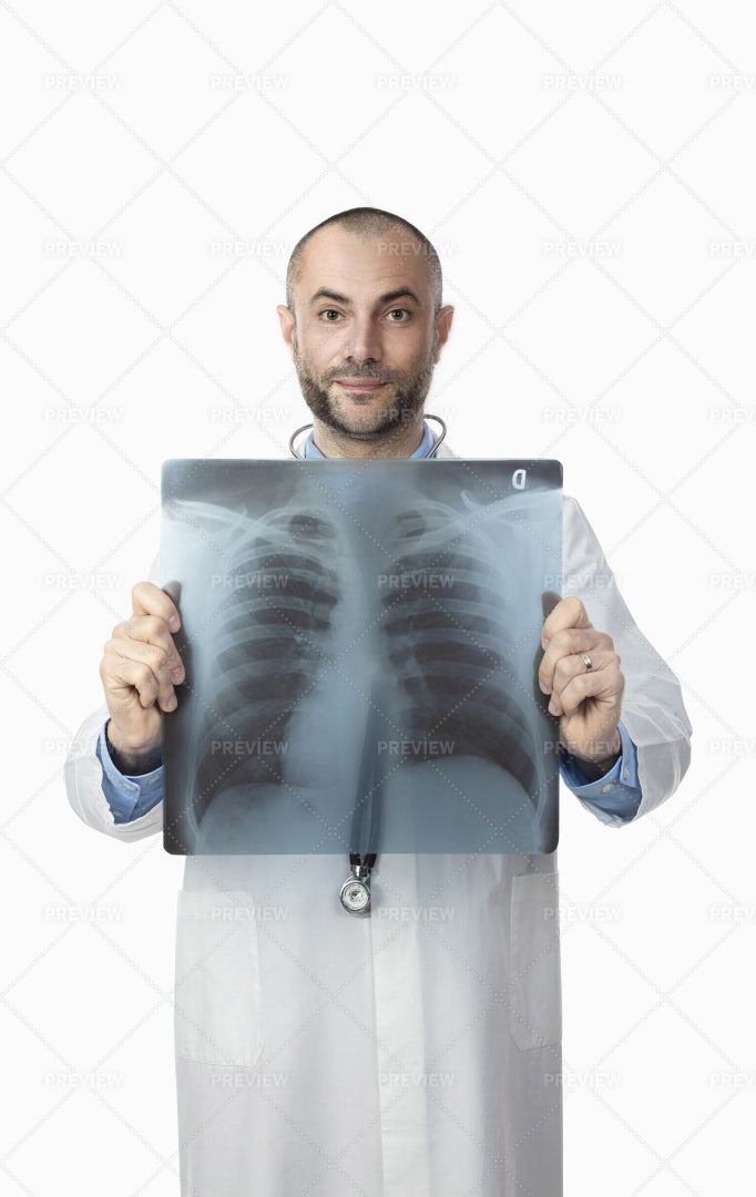 Doctor With X-Ray: Stock Photos