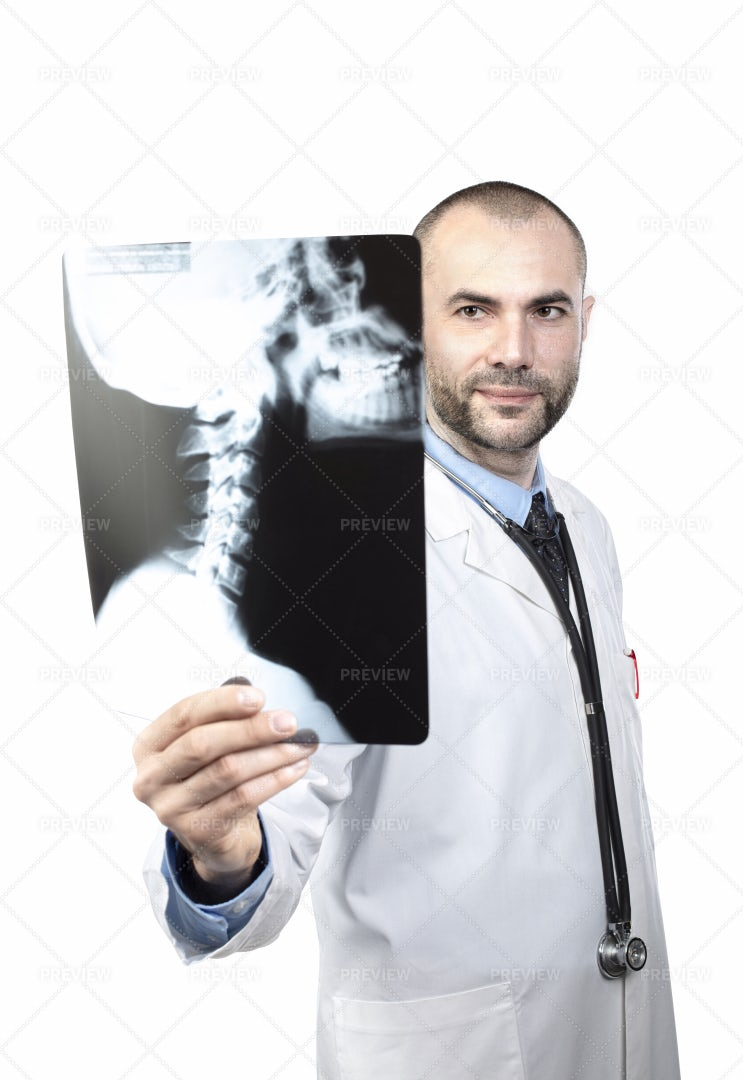 Doctor Showing X-Ray: Stock Photos