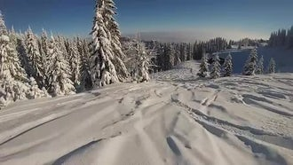 Snowboarder POV: Stock Footage