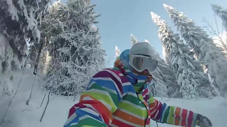 Snowboarder: Stock Video