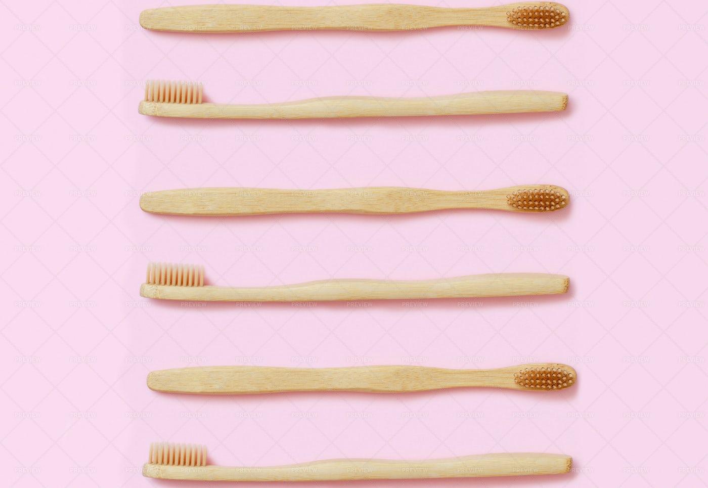 Bamboo Toothbrushes: Stock Photos