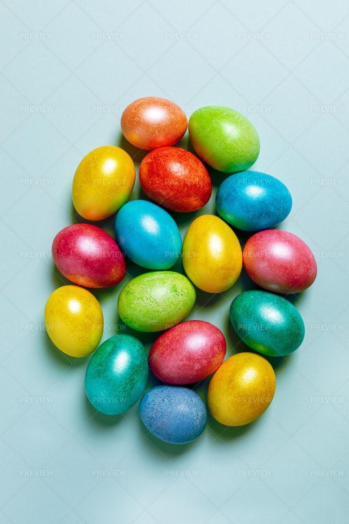 Glossy Easter Eggs: Stock Photos