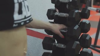 Training Dumbbells Rack: Stock Video