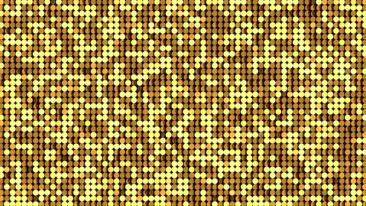 Gold LED Stage Background: Motion Graphics