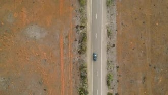 Desert Highway Aerial: Stock Video