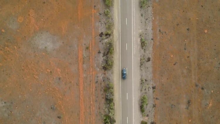 Desert Highway Aerial: Stock Video