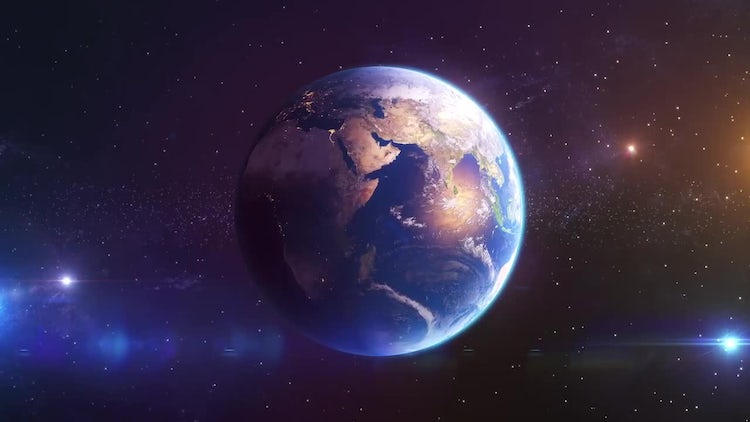 Earth Loop Animation: Stock Motion Graphics