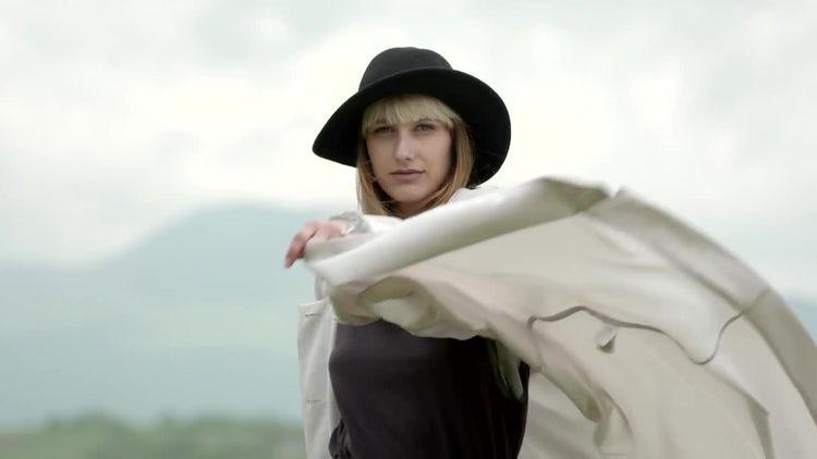 Beautiful Woman Dancing: Stock Video