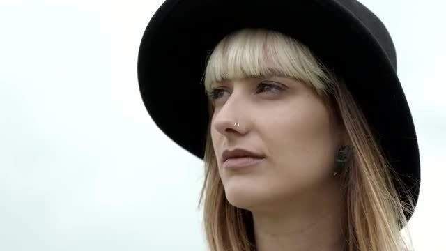 Beautiful Woman Close Up: Stock Video