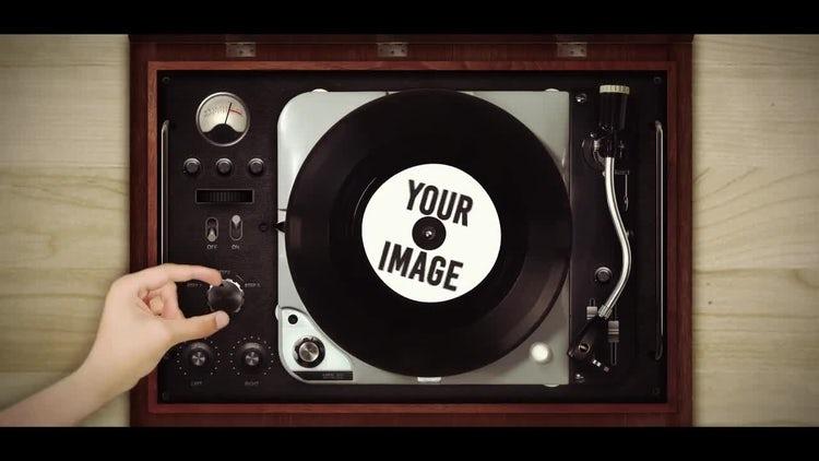 Retro Vinyl Logo Opener: After Effects Templates