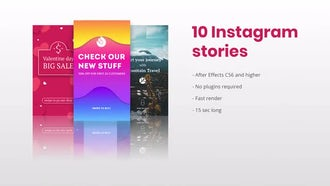 10 Instagram Stories: After Effects Templates