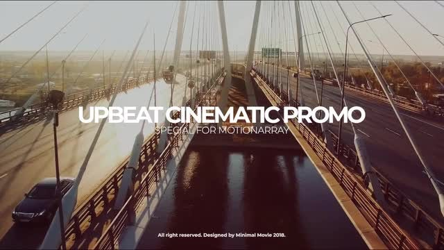 Upbeat Cinematic Slideshow: Premiere Pro Templates