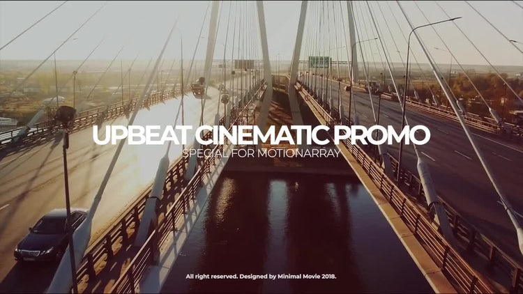 Upbeat Cinematic Slideshow: Premiere Pro Templates
