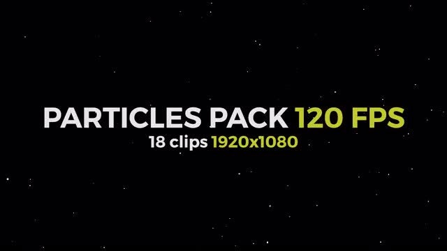 Particles Pack. Snow. Dust. 120fps: Stock Video