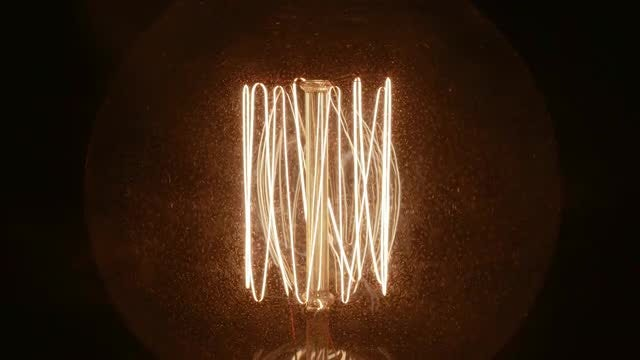 Smoke On A Tungsten Lamp: Stock Video