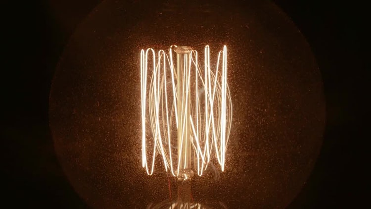 Smoke On A Tungsten Lamp: Stock Video