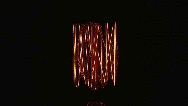 Tungsten Filament Lamp: Stock Video