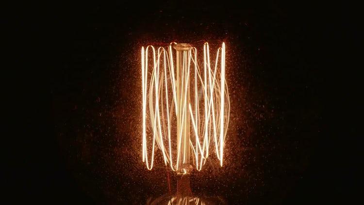 Incandescent Bulb Tungsten Close-Up: Stock Video