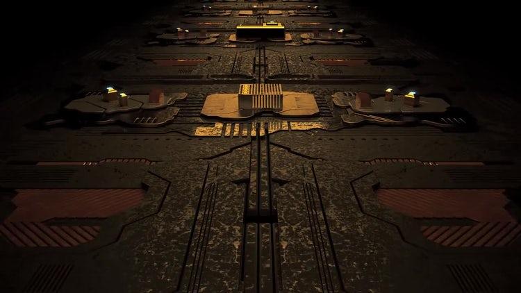 Circuit Board Loop: Motion Graphics