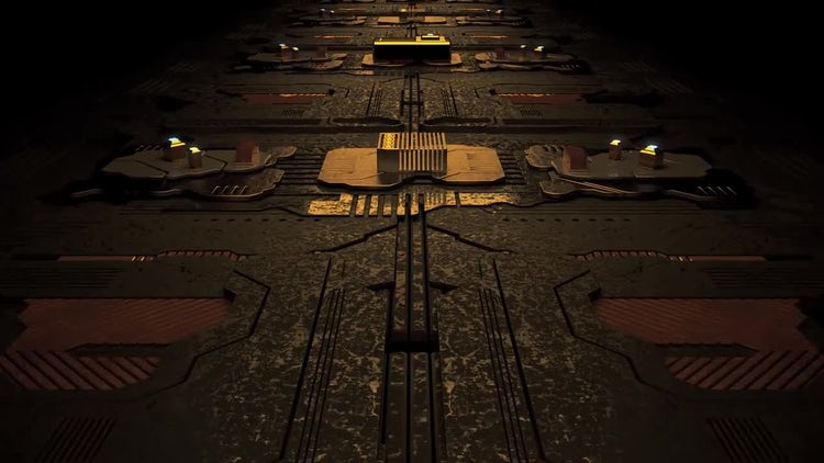 Circuit Board Loop: Stock Motion Graphics