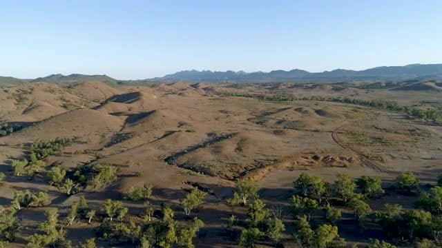 Outback Landscape Aerial: Stock Video