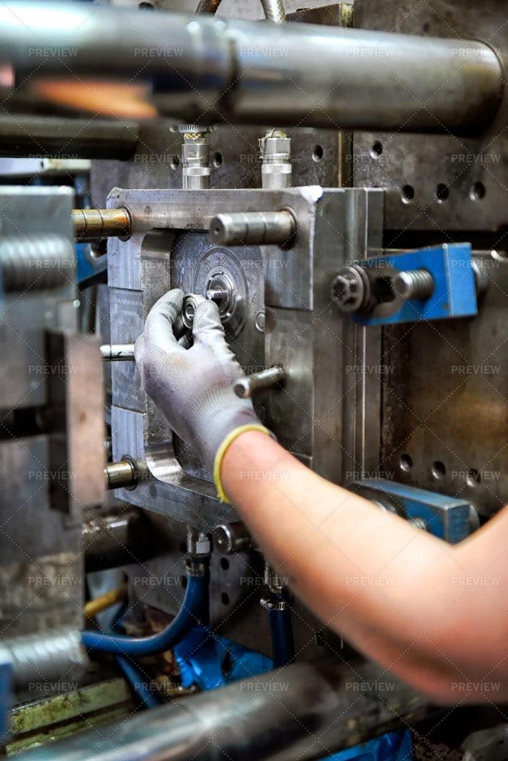 Man Working On A Machine: Stock Photos