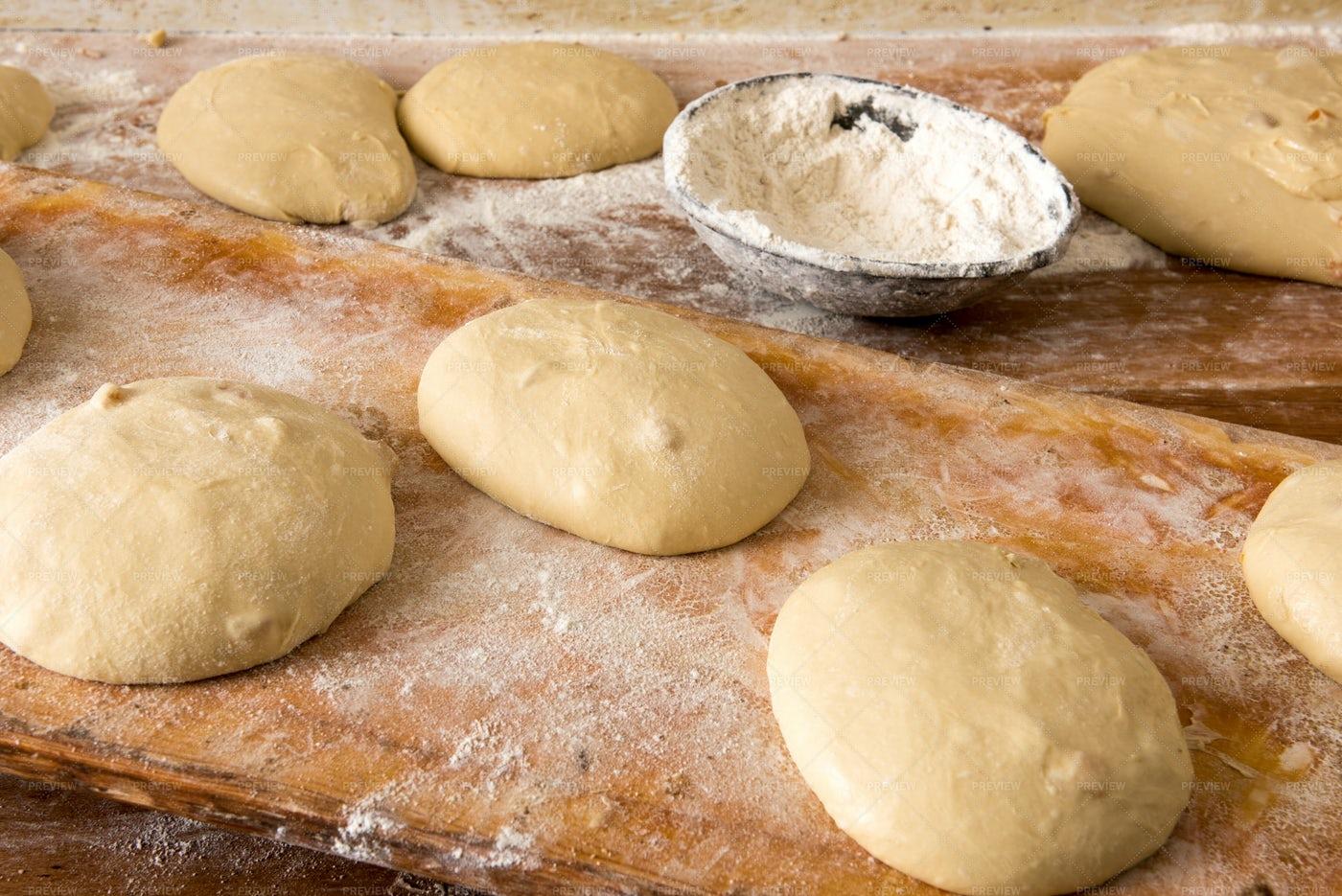 Dough For Bread: Stock Photos