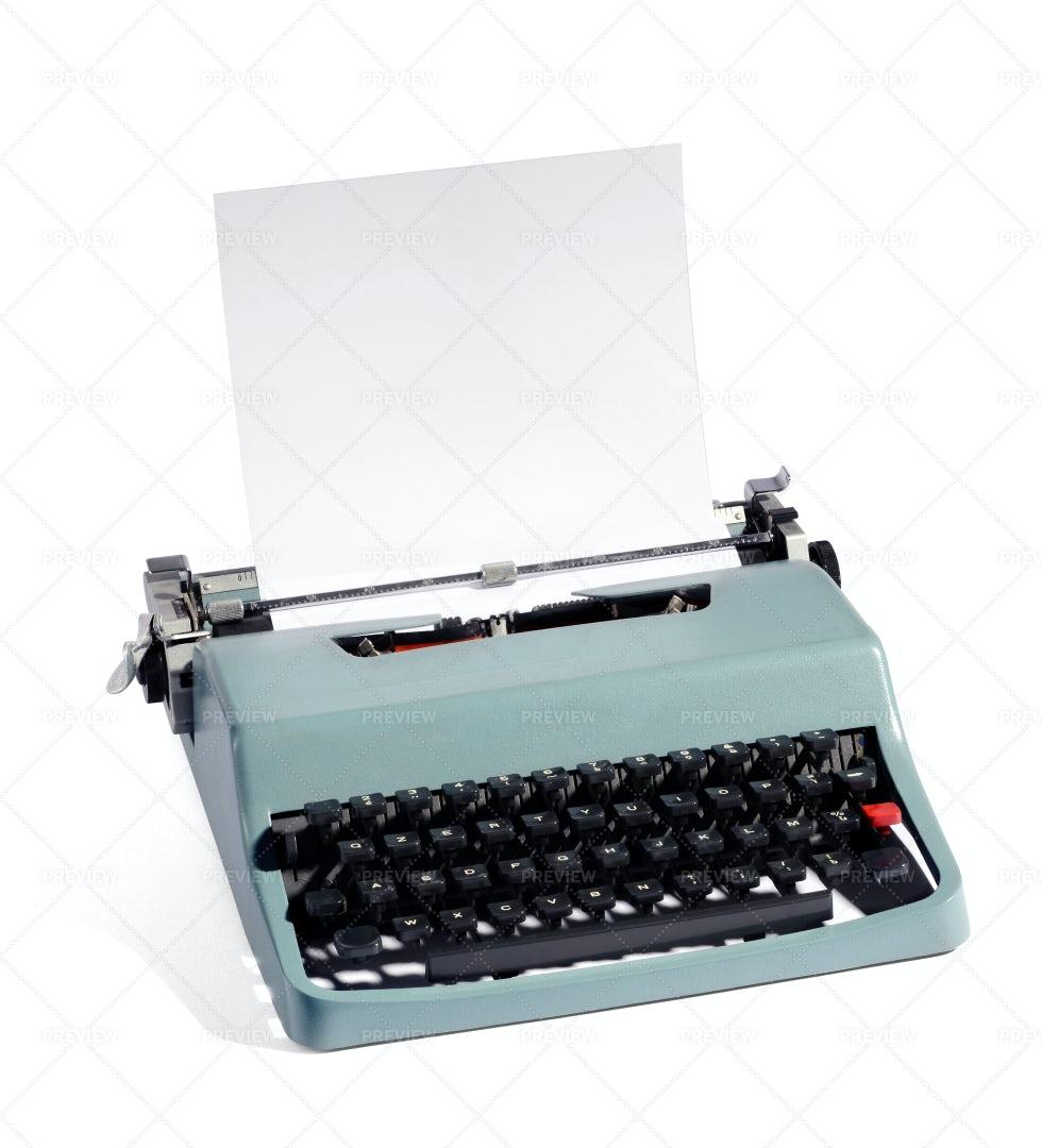 Old Manual Typewriter: Stock Photos