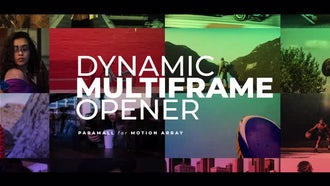 Dynamic Multiframe Opener: Premiere Pro Templates