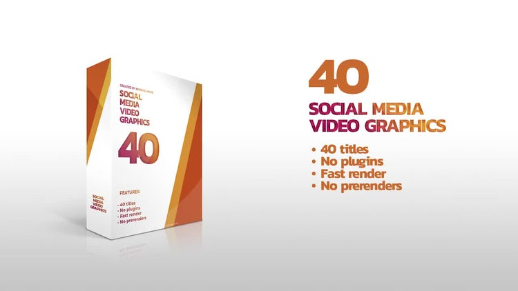 40 Social Media Video Graphics: Premiere Pro Templates