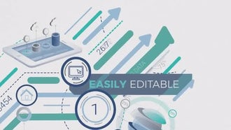 Growth Of Infographics Logo Opener: After Effects Templates