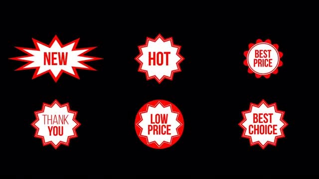 Store Sale Badges: Stock Motion Graphics