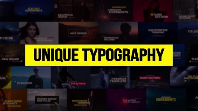 Unique Typography: Premiere Pro Templates
