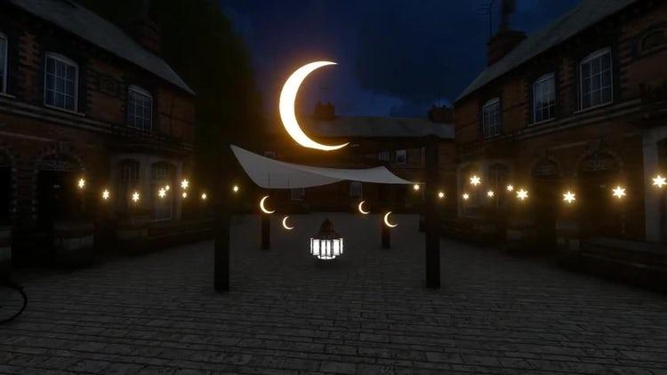 Ramadan Courtyard: Stock Motion Graphics
