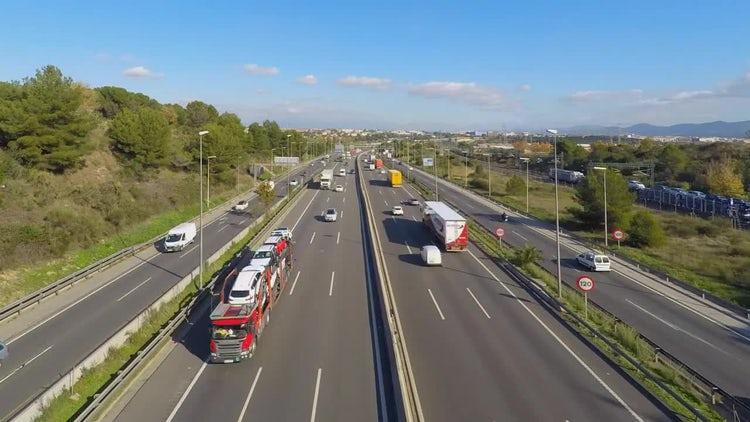 Highway Bright Timelapse: Stock Video