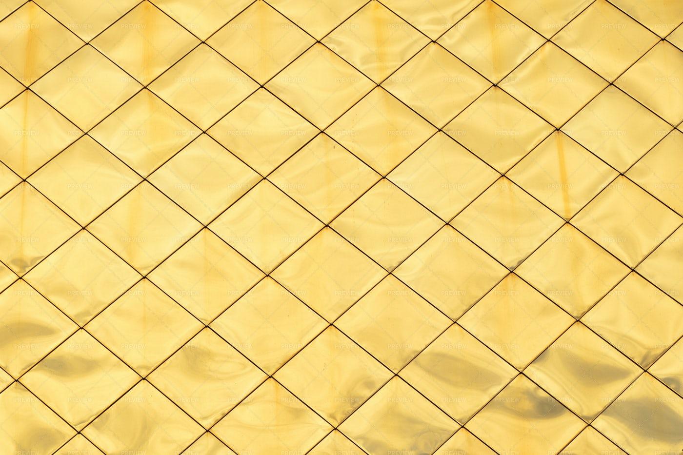 Golden Metal Panels: Stock Photos