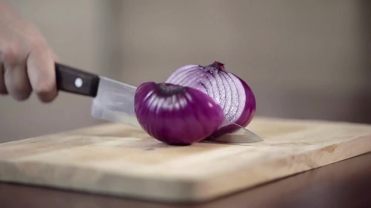 Onion Chopped In Half: Stock Video