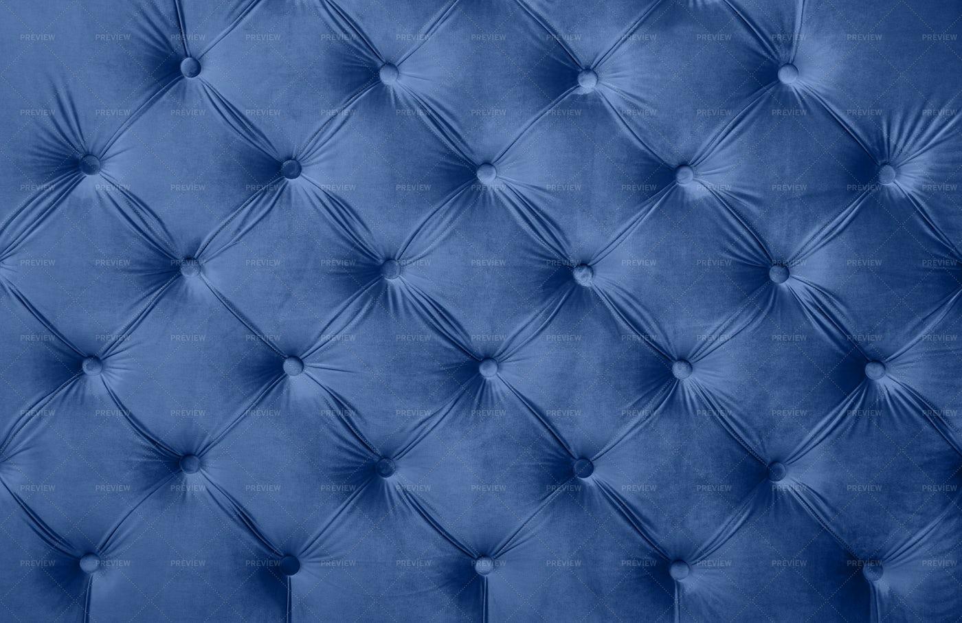Blue Capitone Upholstery: Stock Photos