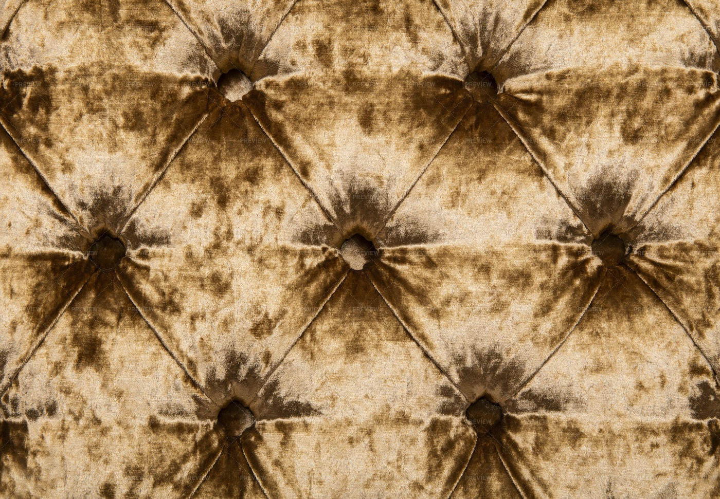 Golden Capitone Upholstery: Stock Photos