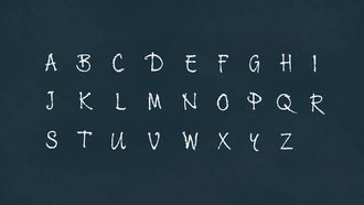 4K Chalk Animated Alphabet: After Effects Templates