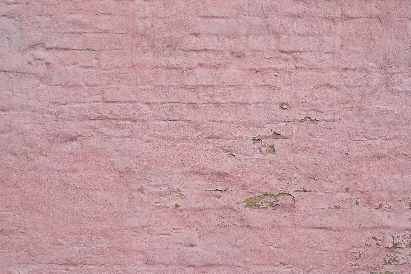 Pink Painted Brick Wall: Stock Photos