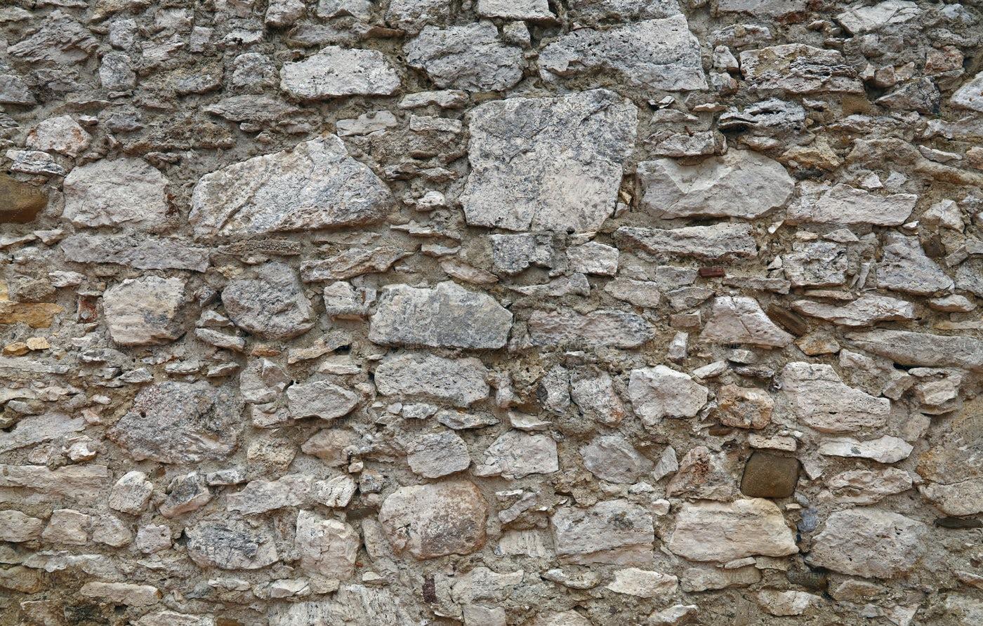 Old Gray Stone Wall: Stock Photos